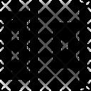 Horizontal distribute right Icon