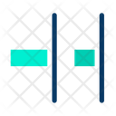 Horizontal Distribute Right Align Icon