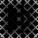 Horizontal Distribution Left Icon