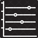 Horizontal Dot Line Graph Icon