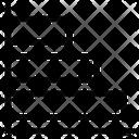 Horizontal Chart Graph Icon