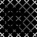 Horizontal Graph Icon
