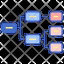 Horizontal Hierarchy Icon