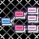 Horizontal Hierarchy Hierarchy Structure Icon