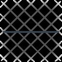 Horizontal line Icon