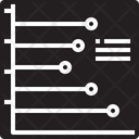 Horizontal line graph Icon