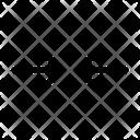 Horizontal Minimize Minimize Arrow Resize Icon