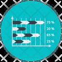 Horizontal Percentage Chart Percentage Chart Percentage Graph Icon
