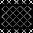 Horizontal Rectangle Layout Icon