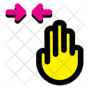 Horizontal Scroll Finger Hand Icon