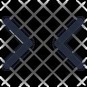 Horizontal Shrink Icon