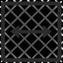 Horizontal width Icon