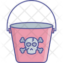 Horror Bucket Bucket Design Halloween Bucket Icon