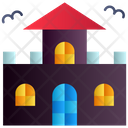 Horror Castle Halloween Mansion Haunted House Icon