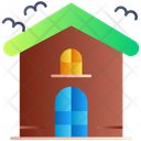 Horror House Haunted House Bat Icon