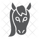 Horse Mustang Face Icon