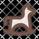 Horse Rocking Horse Baby Icon