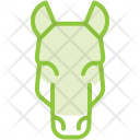 Horse Face Animal Icon