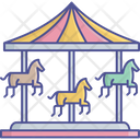 Amusement Ride Carousel Funfair Icon