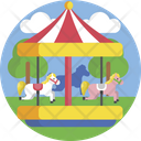 Merry Goround Horses Amusement Park Icon