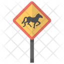 Horse Crossing Mandatory Icon