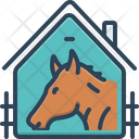 Horse In Stable Racing Farmyard Icon