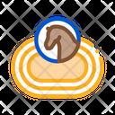 Hippodrome Track Equestrian Icon