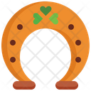 Horseshoe St Patrick Day Luck Icon