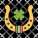 Horseshoe Lucky Clover Icon
