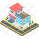 Hospital Pharmacy Building Building Clinic Icon