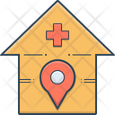 Hospital Location Clinic Icon