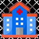 Hospital Covid Coronavirus Icon