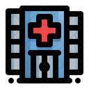 Hospital Building Location Icon