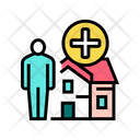 Human House Rent Icon