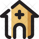 Hospital Architecture And City Health Clinic Icon
