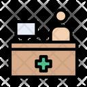 Hospital Clinic Reception Icon