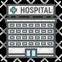 Hospital Building Emergency Icon