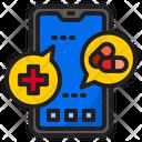 Mobilephone Covid Coronavirus Icon