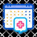 Hospital Visit Calendar Icon