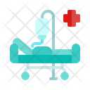 Hospital Bed Stretcher Blood Infusion Icon