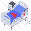 Hospital Bed Patient Bed Emergency Bed Icon