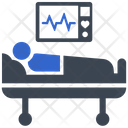 Cardiogram Hospital Bed Medical Treatment Icon