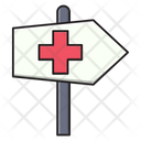 Direction Board Hospital Icon