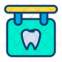 Dentist Board Dental Care Dental Hospital Icon