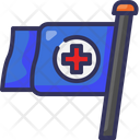 Flag Redcross Medical Icon
