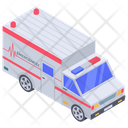 Hospital Emergency Service Ambulance Vehicle Icon