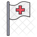 Emergency Flag Hospital Icon