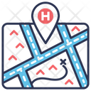 Hospital Location Medical Icon