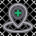 Location Hospital Clinic Icon