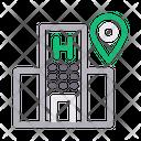 Hospital Clinic Location Icon